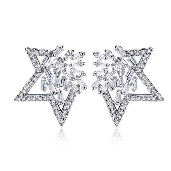 Alloy Korea  earring  (White zirconium white alloy) NHTM0492-White-zirconium-white-alloy
