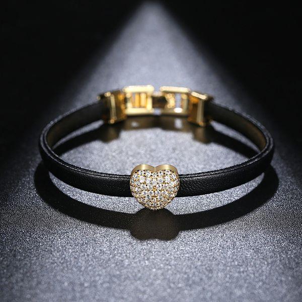 Alloy Fashion Sweetheart bracelet  (Champagne Alloy-11C07) NHTM0493-Champagne-Alloy-11C07
