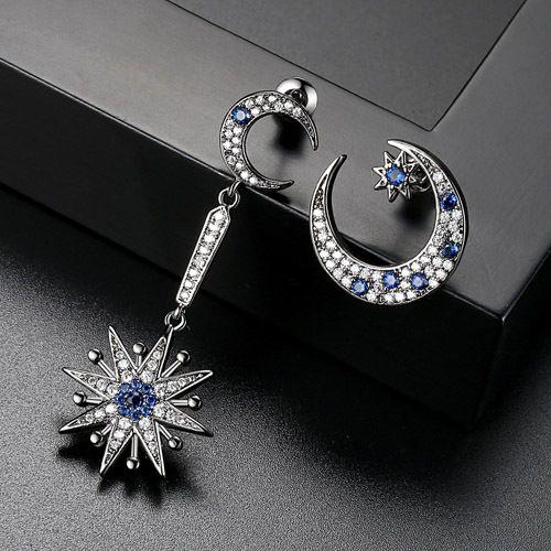 Alloy Korea Geometric earring  Gun black  T08H09 NHTM0502GunblackT08H09