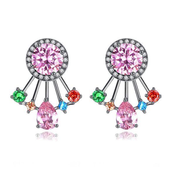 Alloy Fashion Geometric earring  (color-T08D06) NHTM0504-color-T08D06
