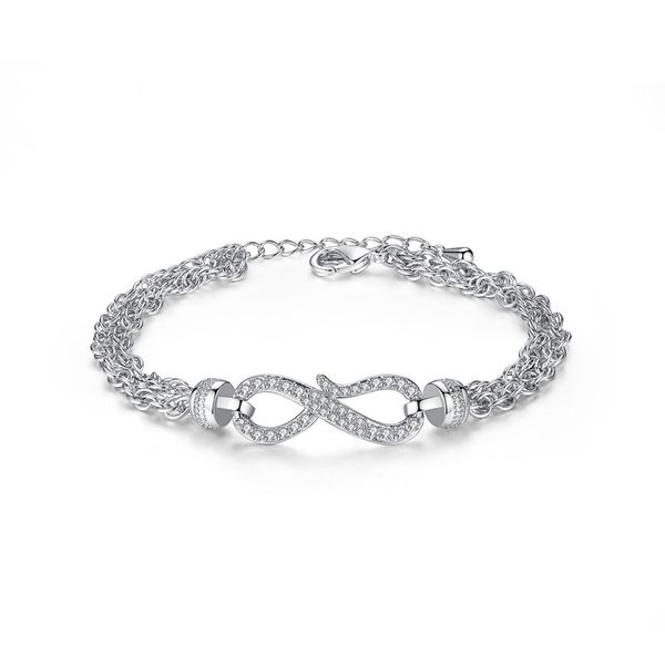 Alloy Simple Geometric bracelet  (Platinum 18CM-T14D03) NHTM0505-Platinum-18CM-T14D03