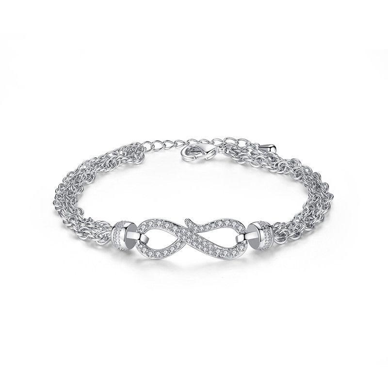 Alloy Simple Geometric bracelet  Platinum 18CMT14D03 NHTM0505Platinum18CMT14D03