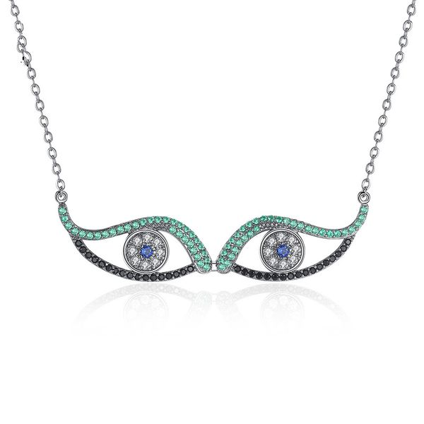 Alloy Simple Geometric necklace  (Gun black - T10A16) NHTM0507-Gun-black-T10A16