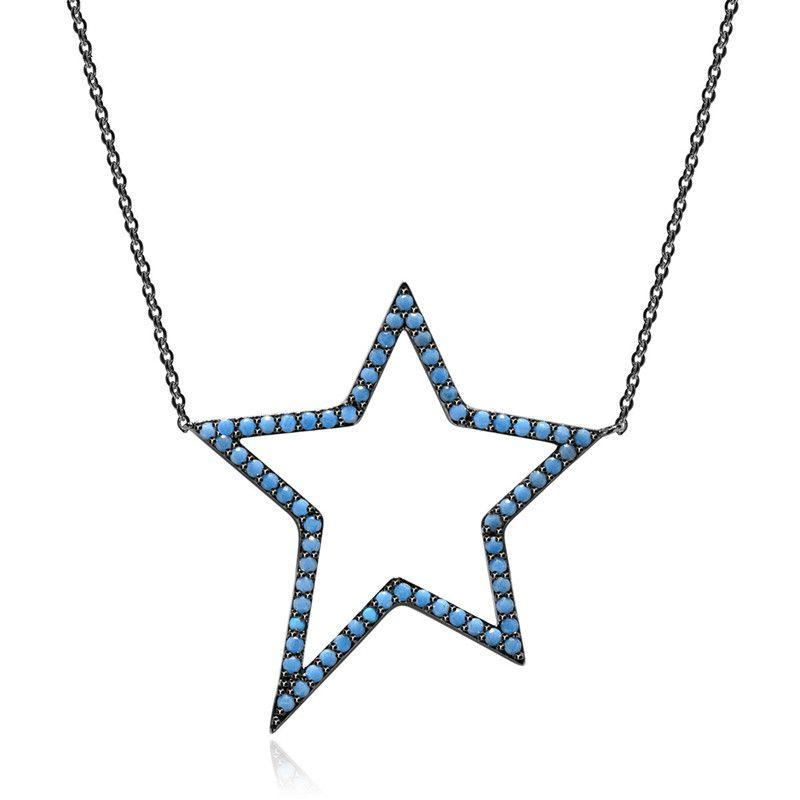 Alloy Fashion Geometric necklace  BlueT10E17 NHTM0511BlueT10E17
