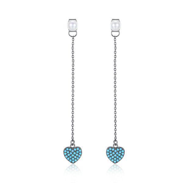 Alloy Other Sweetheart earring  (Gun black-blue T07E20) NHTM0512-Gun-black-blue-T07E20