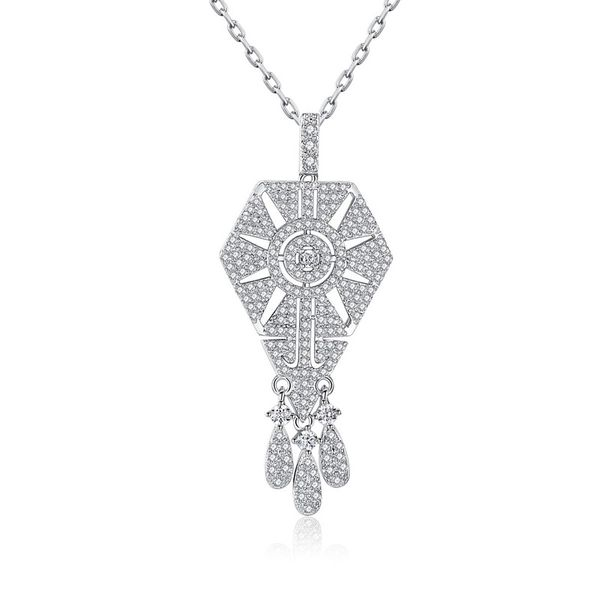 Alloy Fashion Geometric necklace  (Platinum-T11F22) NHTM0514-Platinum-T11F22