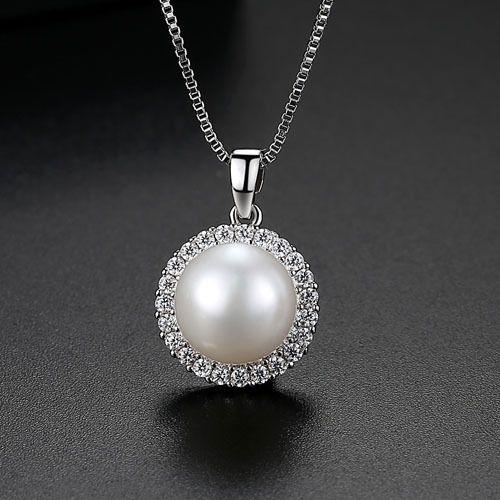 Copper Korea Geometric necklace  (Platinum-T11G27) NHTM0515-Platinum-T11G27