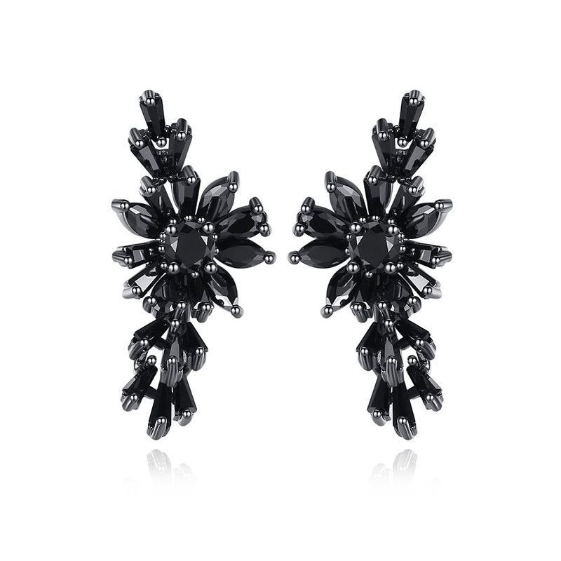 Alloy Simple Flowers earring  (Platinum T05C20) NHTM0520-Platinum-T05C20