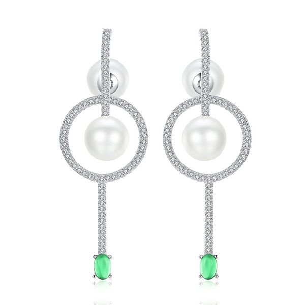 Alloy Korea Geometric earring  (Platinum) NHTM0539-Platinum