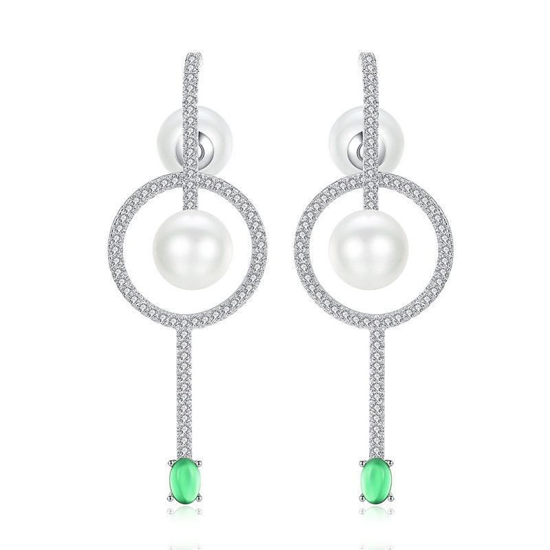 Alloy Korea Geometric earring  Platinum NHTM0539Platinum