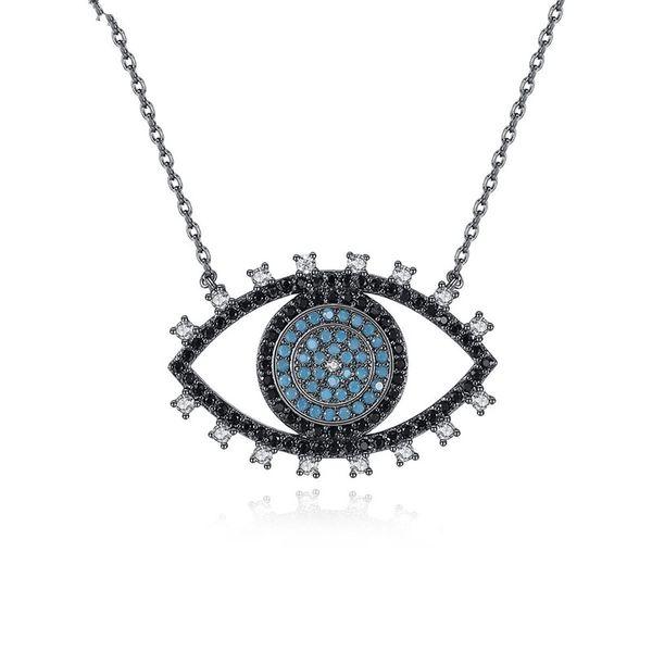 Alloy Fashion Geometric necklace  (Gun black) NHTM0548-Gun-black