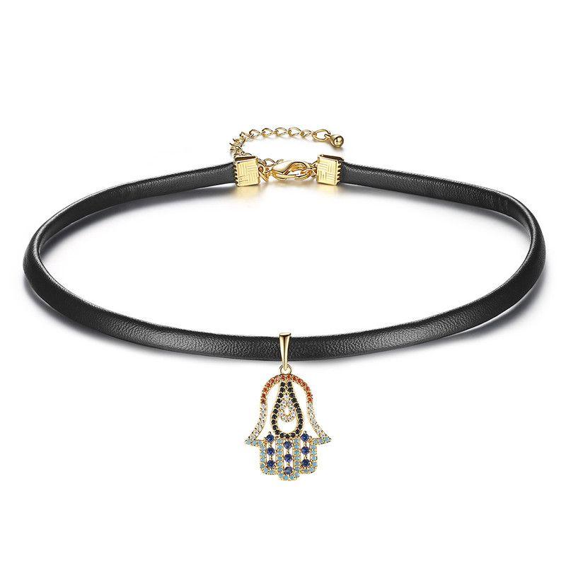 Alloy Fashion Geometric necklace  (18k) NHTM0551-18k