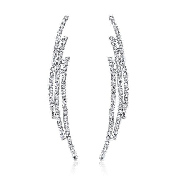 Alloy Fashion Geometric earring  (Platinum-T08I04) NHTM0556-Platinum-T08I04