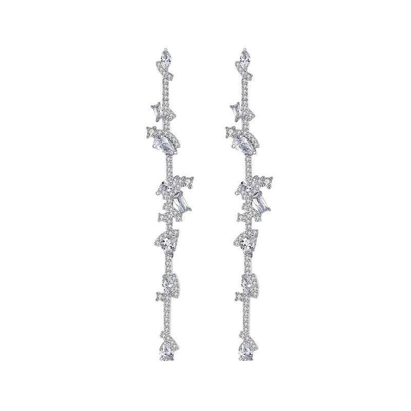 Alloy Fashion Geometric earring  (Platinum-T06F08) NHTM0558-Platinum-T06F08
