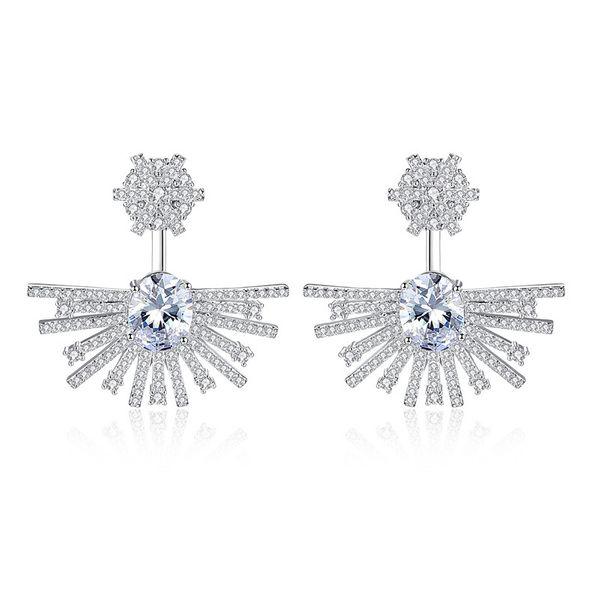 Alloy Fashion Geometric earring  (Platinum-T09I13) NHTM0561-Platinum-T09I13