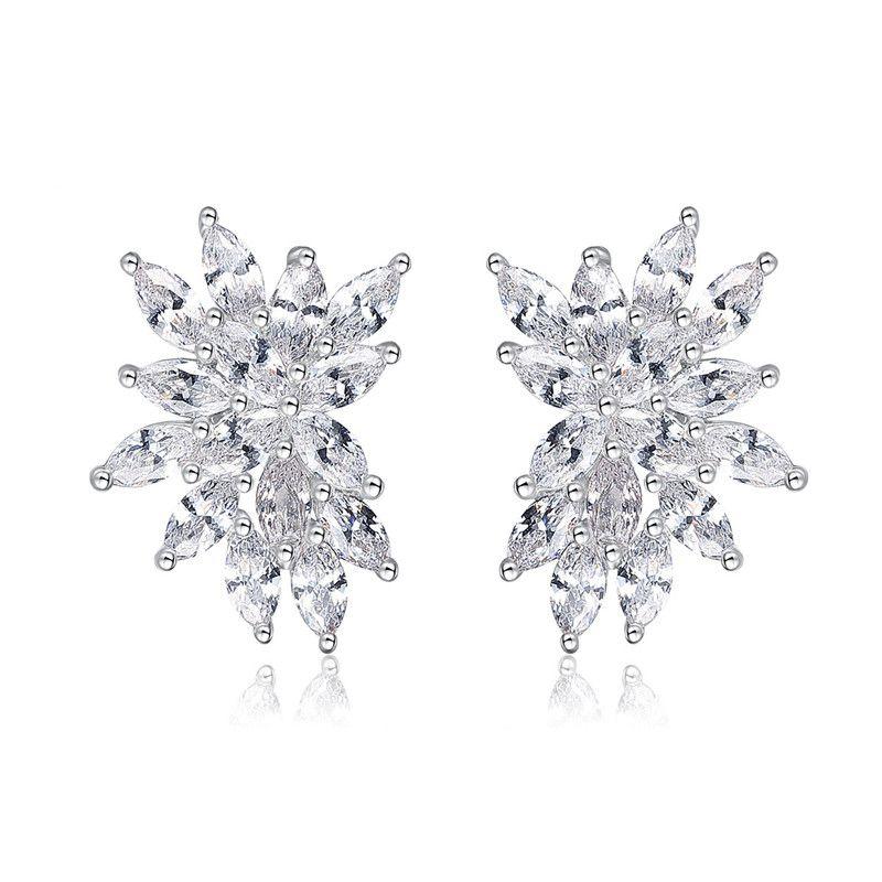 Alloy Simple Geometric earring  (Platinum-T09H15) NHTM0574-Platinum-T09H15