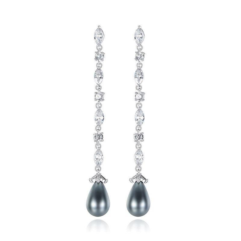 Alloy Simple Geometric earring  (Platinum-T07C18) NHTM0575-Platinum-T07C18