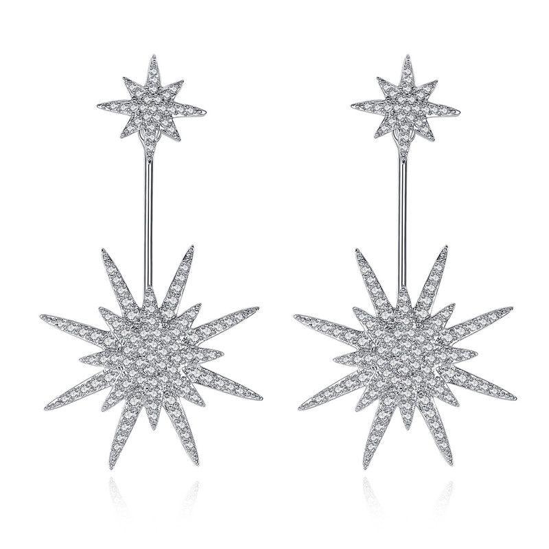 Alloy Fashion Geometric earring  (Platinum-T08I02) NHTM0578-Platinum-T08I02