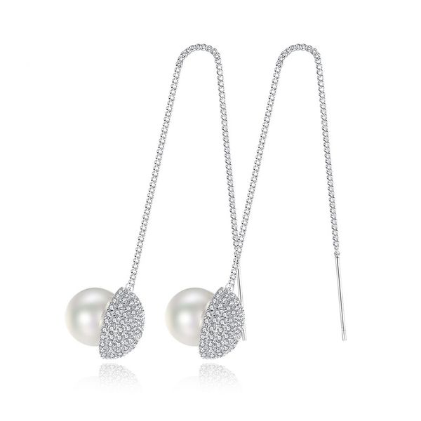Alloy Simple Geometric earring  (Platinum-T08A12) NHTM0580-Platinum-T08A12
