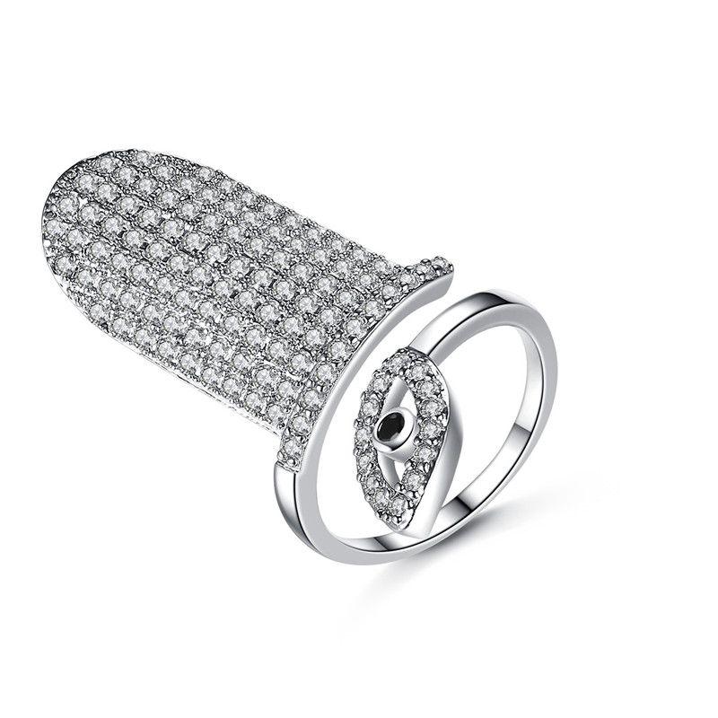 Alloy Simple Geometric Ring  Nail ring white alloyT19E27 NHTM0588NailringwhitealloyT19E27
