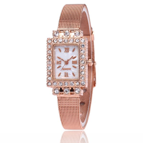 Alloy Fashion  Ladies watch  (Rose alloy) NHMM2242-Rose-alloy