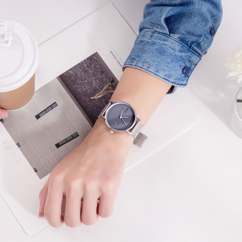 Alloy Fashion  Ladies watch  (Alloy belt gray surface) NHSY1718-Alloy-belt-gray-surface
