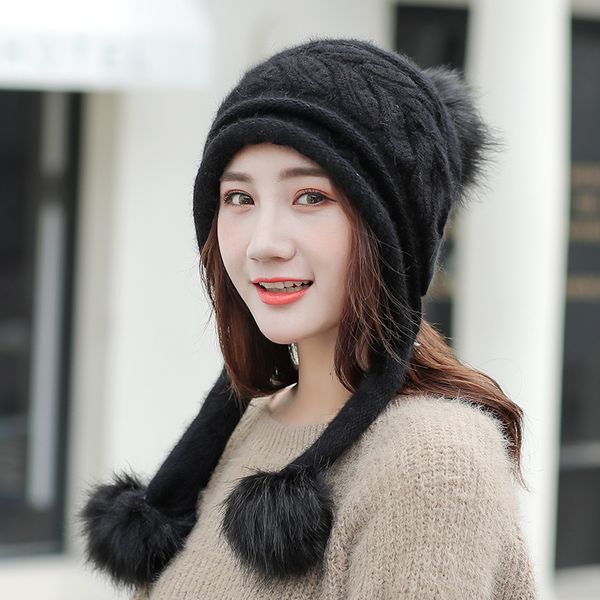 Cloth Korea  hat  (Black - one size ) NHHY4875-Black-one-size-