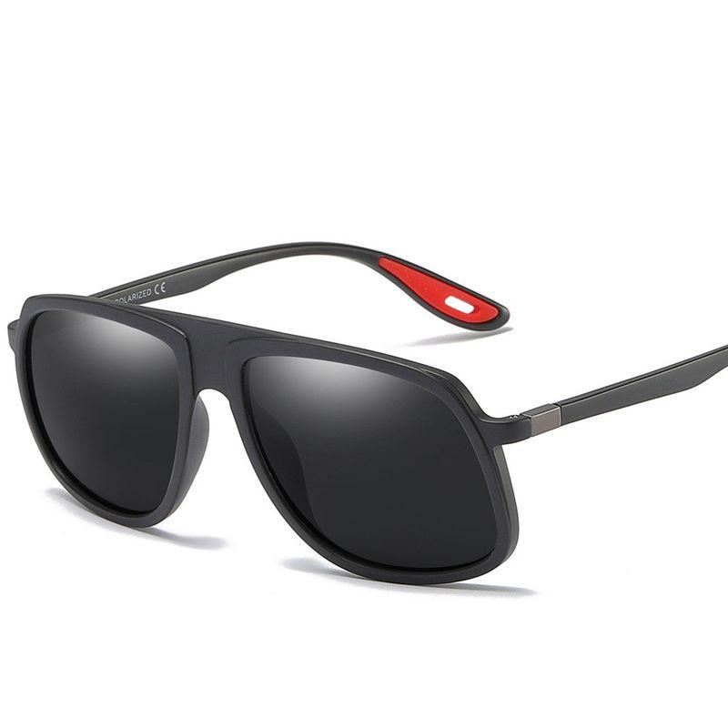 Plastic Fashion  glasses  (C5 sand black / full gray) NHFY0653-C5-sand-black-full-gray