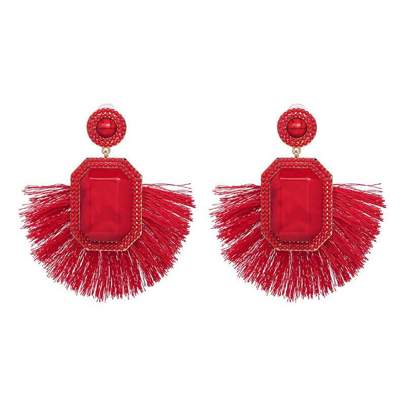 Alloy Fashion Tassel earring  red NHJJ5328red