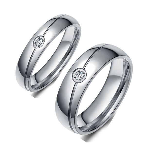 Titanium&Stainless Steel Simple  Ring  (6MM-6) NHIM1455-6MM-6