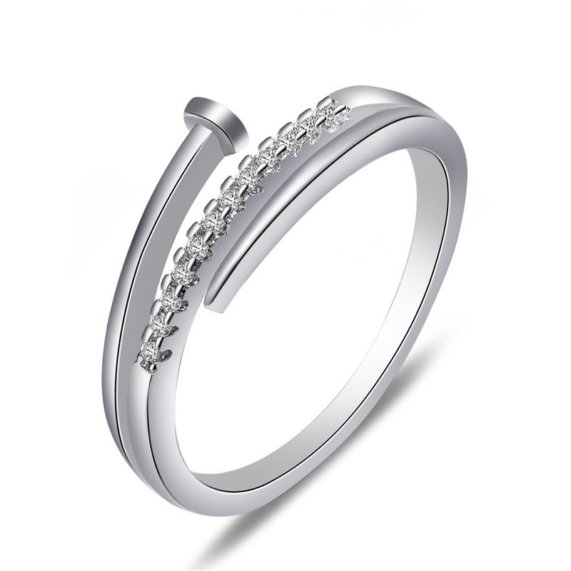 TitaniumStainless Steel Fashion  Ring  Alloy6 NHIM1467Alloy6