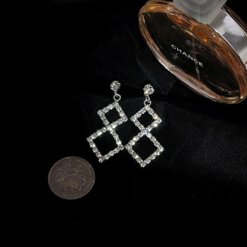 Imitated crystalCZ Simple Geometric earring  Alloy NHIM1472Alloy