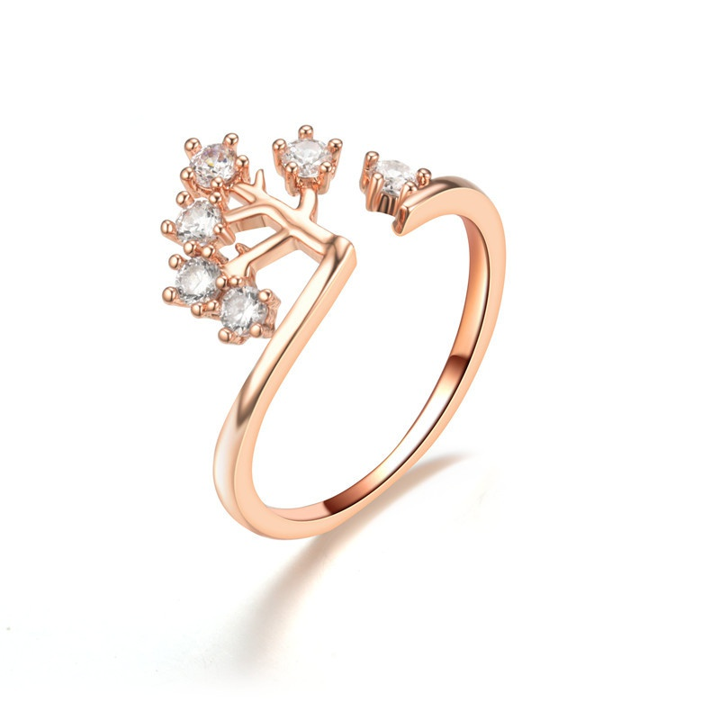 Alloy Fashion Geometric Ring  Rose Alloy7 NHIM1497RoseAlloy7
