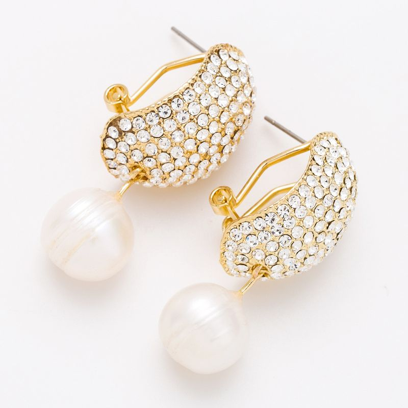 Alloy Fashion Geometric earring  (white) NHJE2166-white