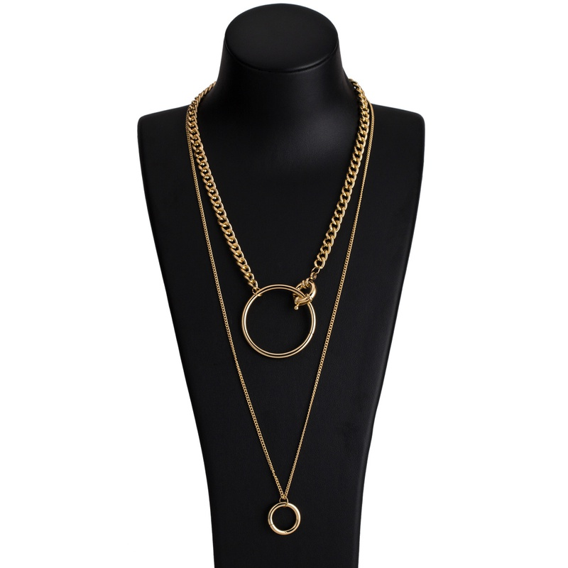 Alloy Fashion Geometric necklace  (Alloy) NHJE2167-Alloy