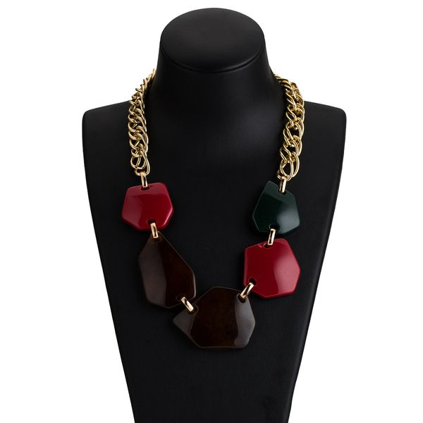 Alloy Fashion Geometric necklace  (color) NHJE2174-color