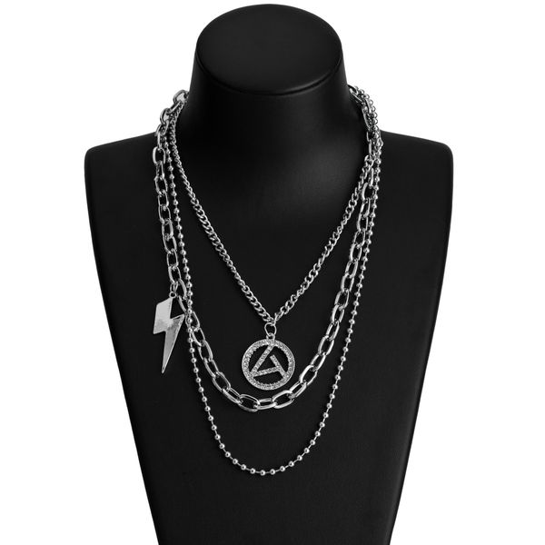 Alloy Fashion Geometric necklace  (Letter A) NHJE2178-Letter-A