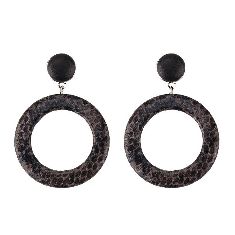 Acrylic Fashion Geometric earring  (black) NHJQ10976-black