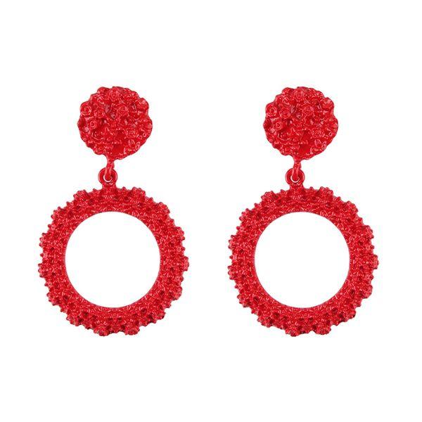 Alloy Fashion Geometric earring  (red) NHJQ10978-red