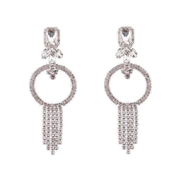 Imitated crystal&CZ Fashion Geometric earring  (Alloy) NHJQ10981-Alloy