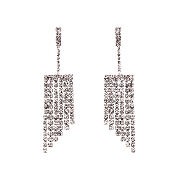 Imitated crystal&CZ Fashion Geometric earring  (Alloy) NHJQ10982-Alloy