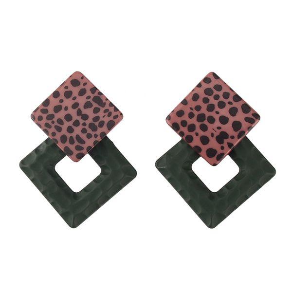 Acrylic Fashion Geometric earring  (Dark green) NHJQ10983-Dark-green