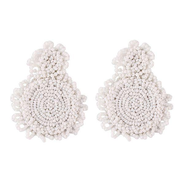 Alloy Fashion Geometric earring  (white) NHJQ10988-white