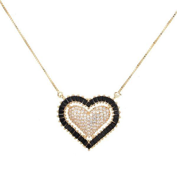 Copper Fashion Sweetheart necklace  (White zircon) NHBP0188-White-zircon