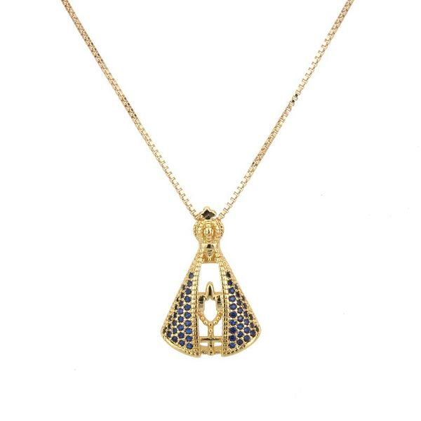 Copper Fashion Cross necklace  (Alloy) NHBP0222-Alloy-plated