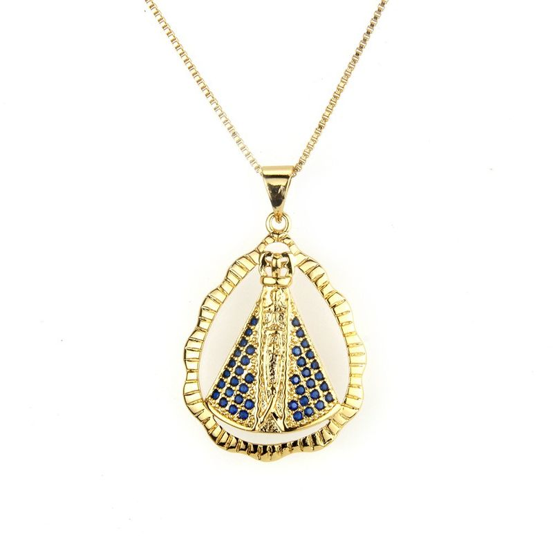 Copper Fashion Geometric necklace  (Alloy) NHBP0241-Alloy-plated