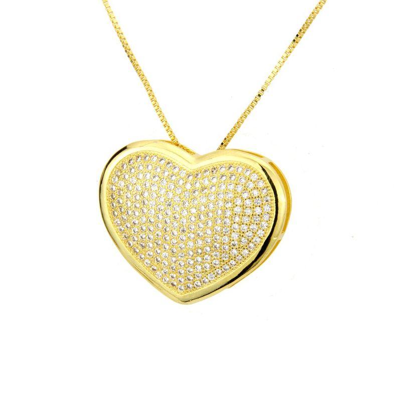 Copper Fashion Sweetheart necklace  (White zircon) NHBP0243-White-zircon