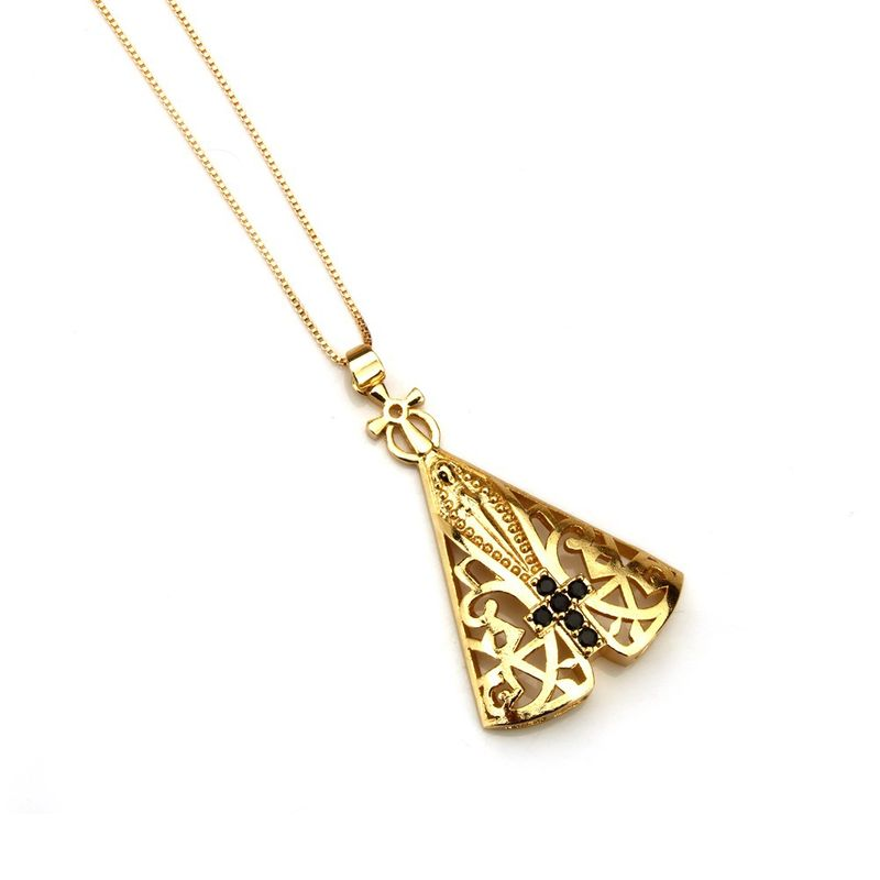 Copper Fashion Geometric necklace  Alloy plating NHBP0256Alloyplating