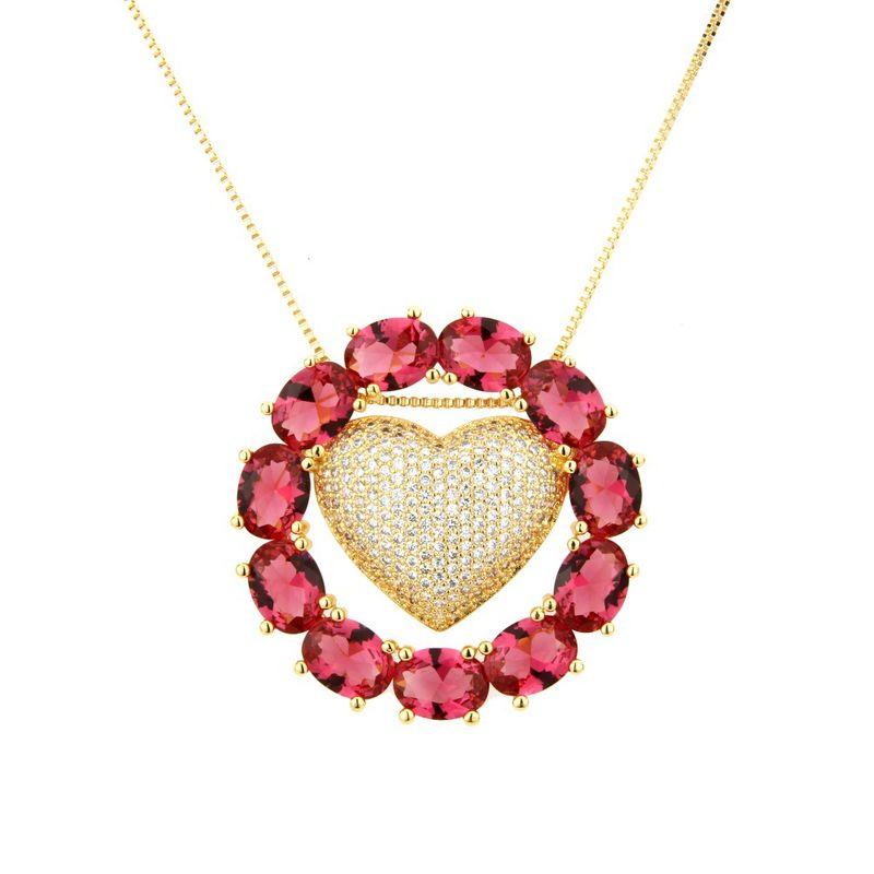 Copper Fashion Geometric necklace  (Alloy) NHBP0263-Alloy