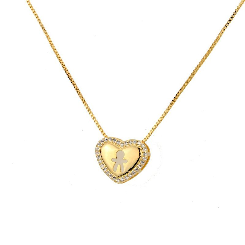Copper Fashion Sweetheart necklace  Alloyplated male NHBP0267Alloyplatedmale